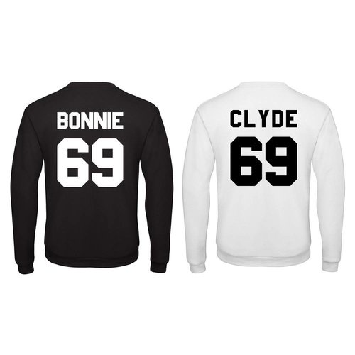 BASIC BONNIE & CLYDE SWEATERS MET RUGNUMMER