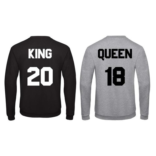 BASIC KING & QUEEN SWEATERS MET RUGNUMMERS