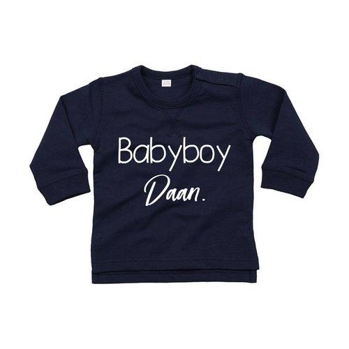 BABYBOY SWEATER MET EIGEN NAAM