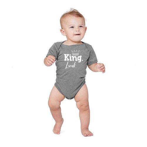 BABYROMPERTJE KING MET EIGEN NAAM