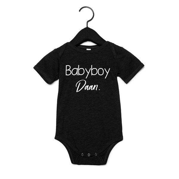 BABYBOY ROMPERTJE MET EIGEN NAAM