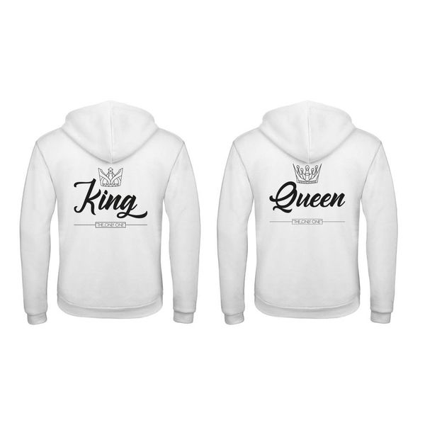 BASIC KING & QUEEN HOODIES SET THE ONLY ONE