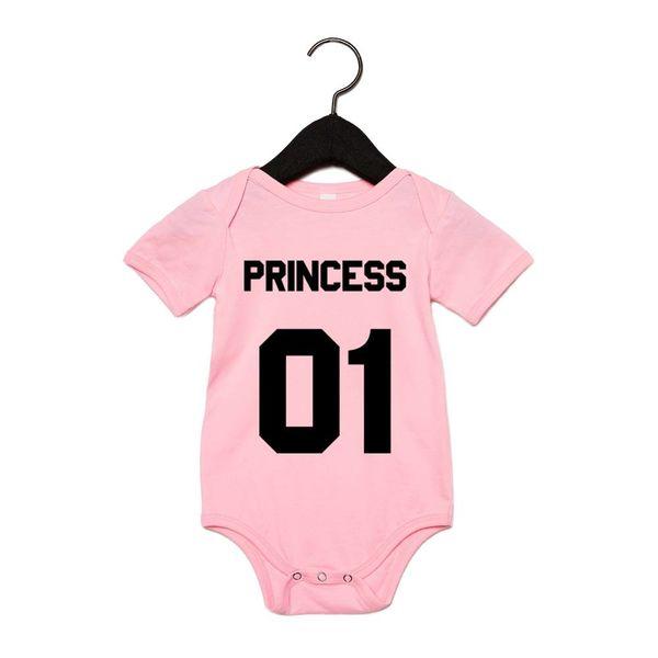PRINCESS BABY-ROMPERTJE MET EIGEN RUGNUMMER