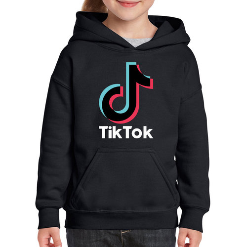 TikTok TikTok Hoodie kinderen - Zwart