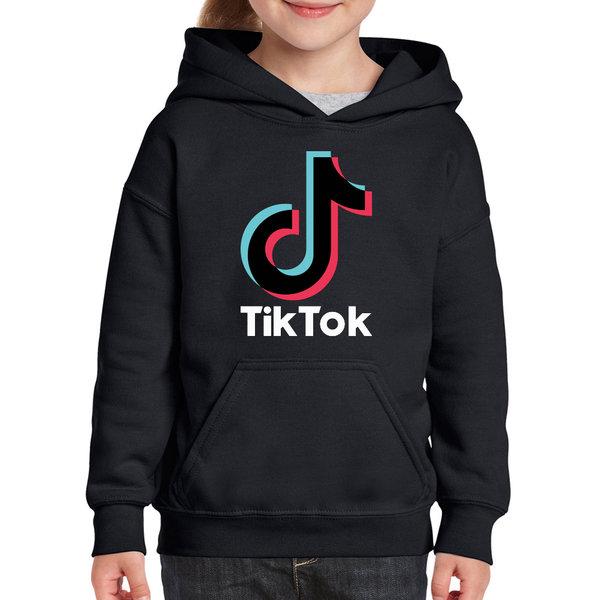 TikTok hoodie kinderen - Zwart
