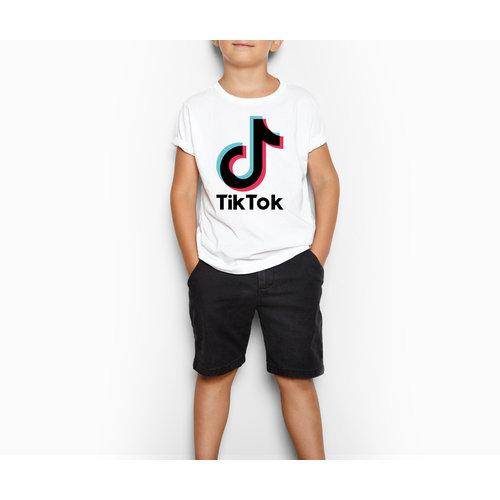 TikTok TikTok T-shirt kinderen - Wit