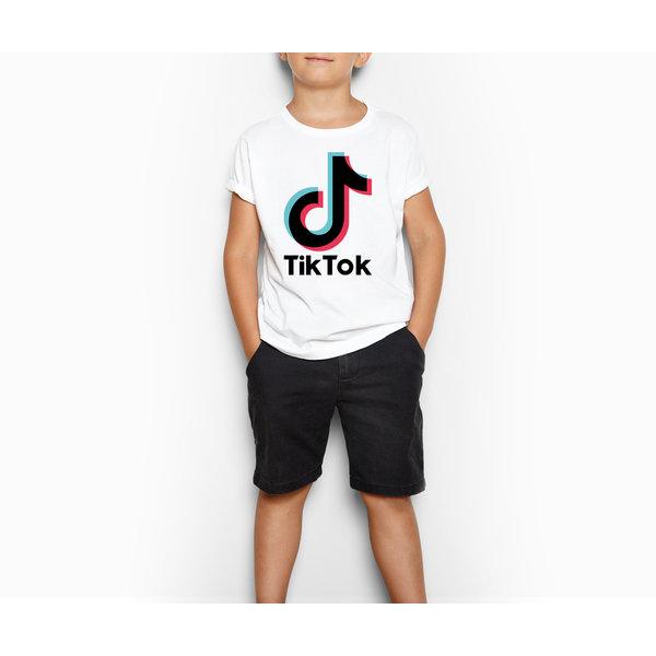 TikTok T-shirt kinderen - Wit