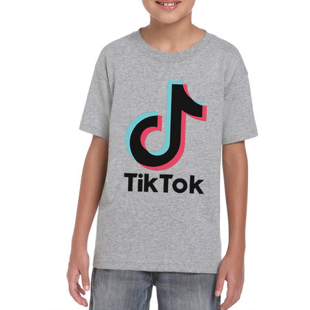 TikTok TikTok T-shirt kinderen - Grijs