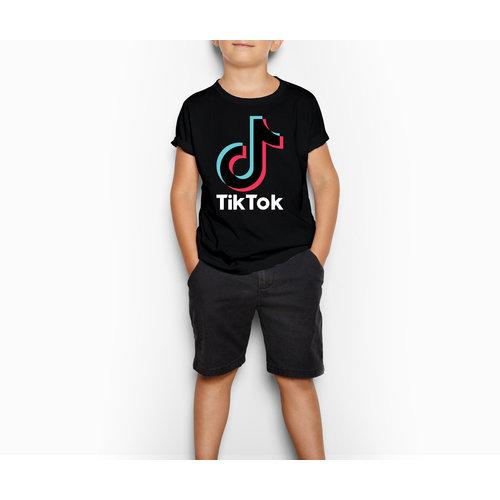 TikTok TikTok T-shirt kinderen - Zwart