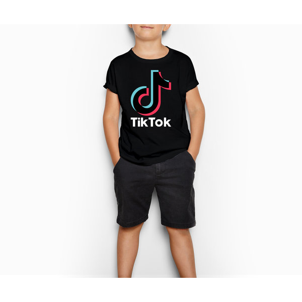 TikTok T-shirt kinderen - Zwart