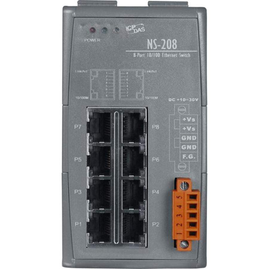 NS-208-CR Ethernet-switch / 8 poorten-3