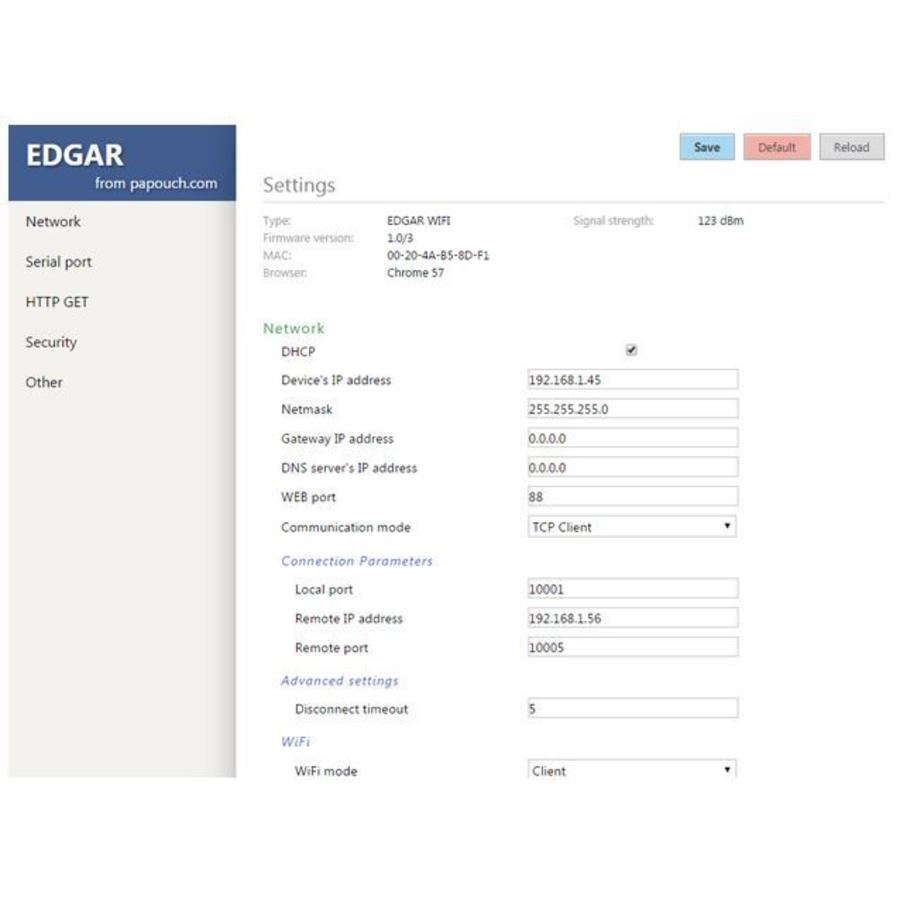 EDGAR PoE Ethernet seriële apparaatserver-7