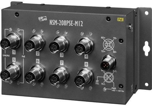 ICPDAS NSM-208PSE-M12 CR