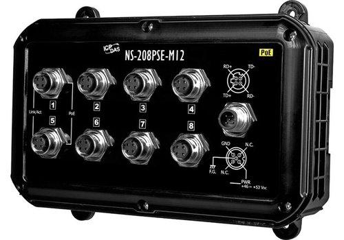 ICPDAS NS-208PSE-M12-IP67