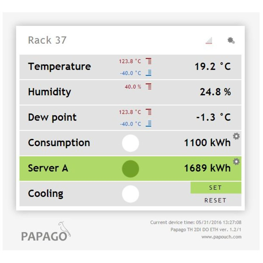 Papago TH 2DI DO ETH Environment monitor-4