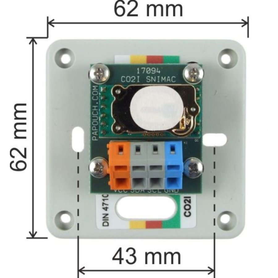 CO2 sensor for interior, 3m cable-2