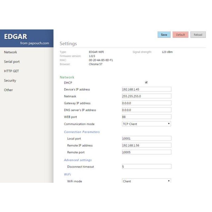 EDGAR WiFi: WiFi naar RS232- of RS485-converter-7