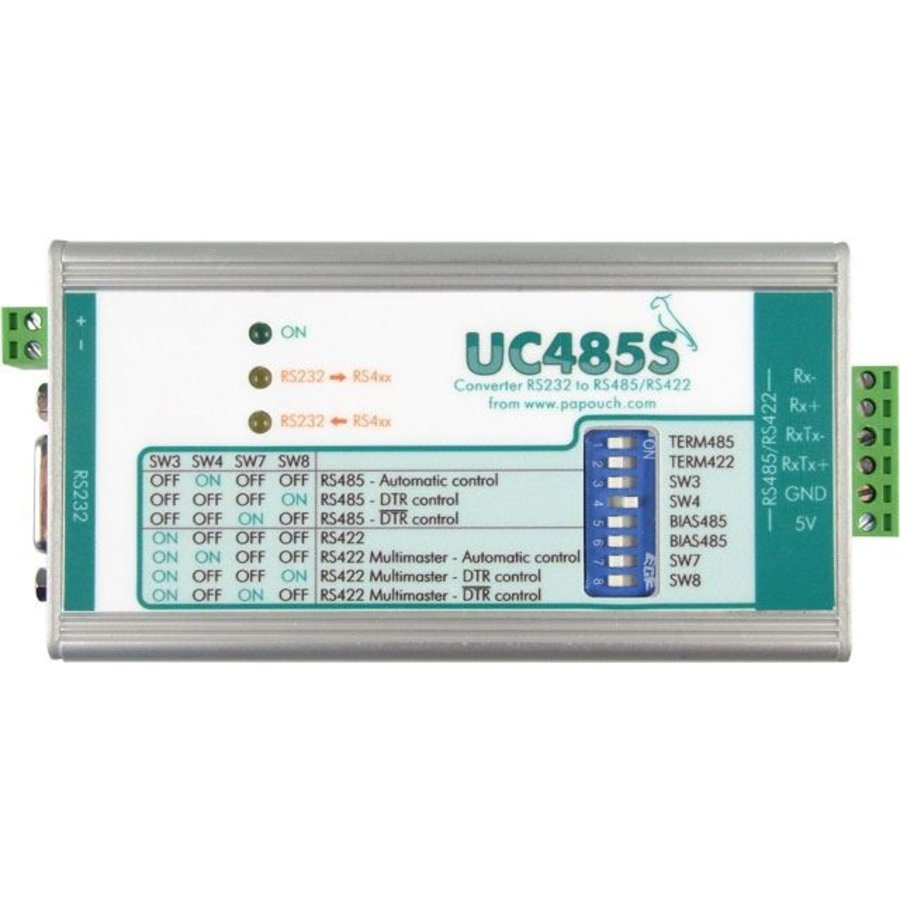 UC485S: RS232 to RS485 / RS422 line converter - plug terminals-1
