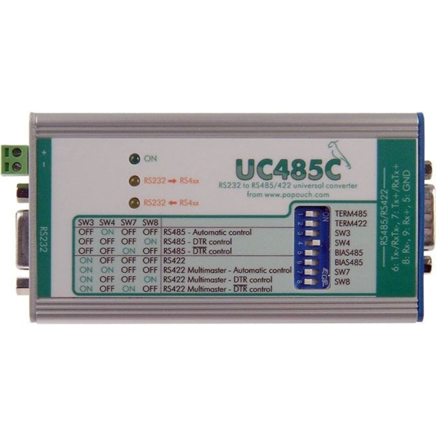 UC485C: RS232 to RS485 / RS422 line converter - D-SUB9-1