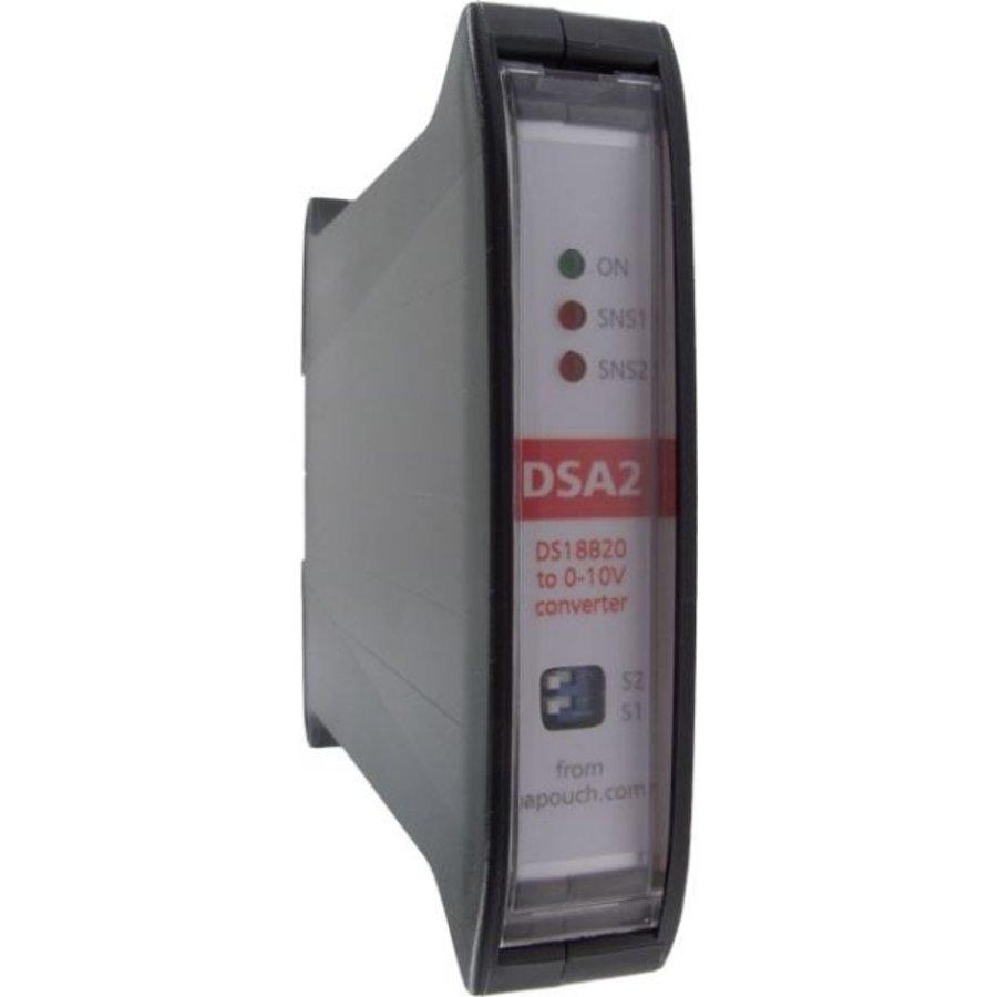 DSA2 - 2x D/A converter DS18B20 to 0-10V-1