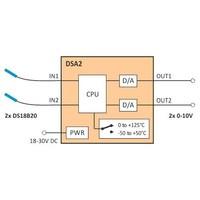 thumb-DSA2 - 2x D/A converter DS18B20 to 0-10V-4