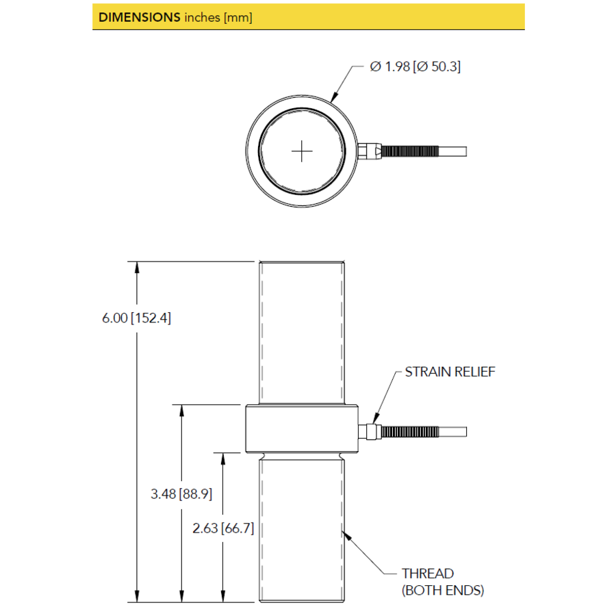 LCM550 Threaded In Line Load Cell - Cable Version-5