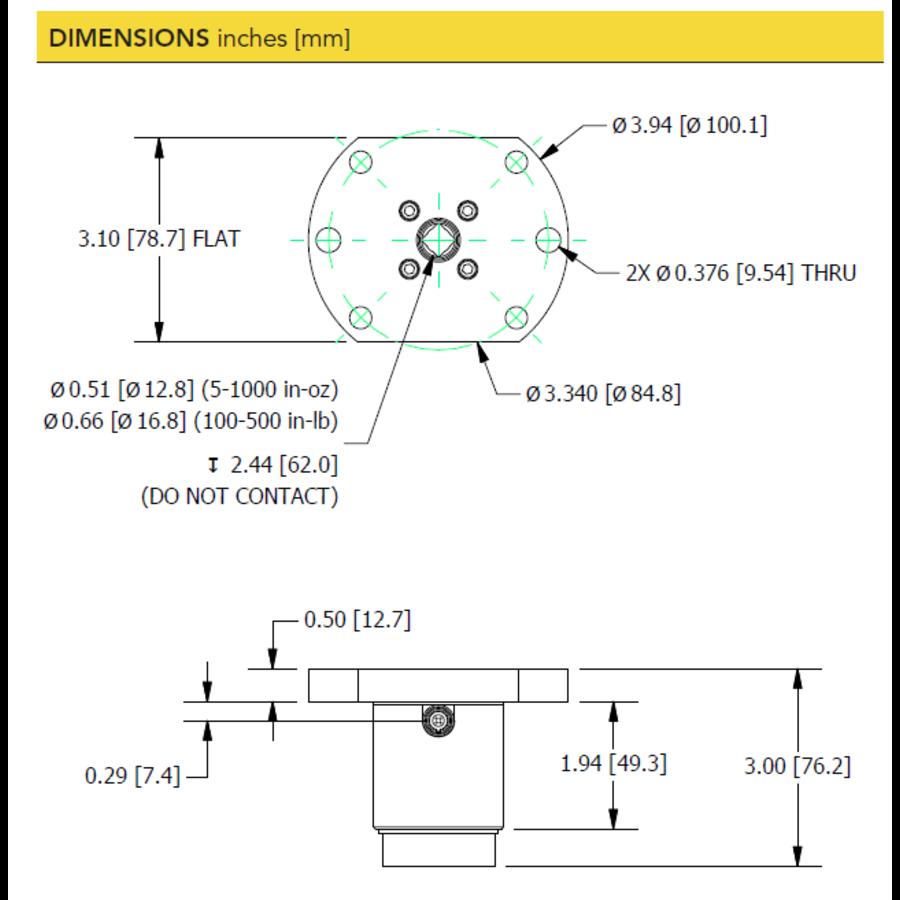 TDF400 Flange-to-Square-Drive Torque Sensor-7
