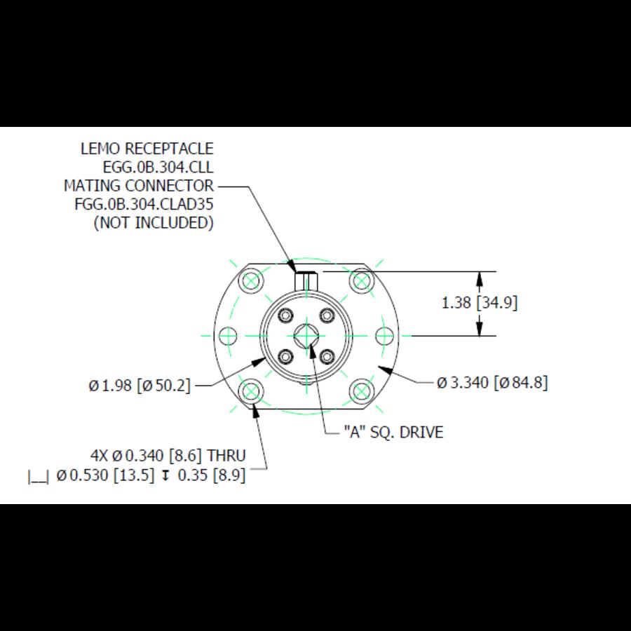 TDF400 Flange-to-Square-Drive Torque Sensor-8