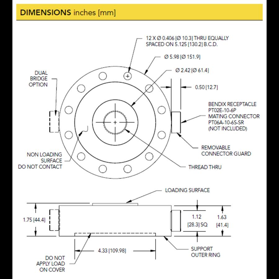 LCF500 Universal Pancake Load Cell-5