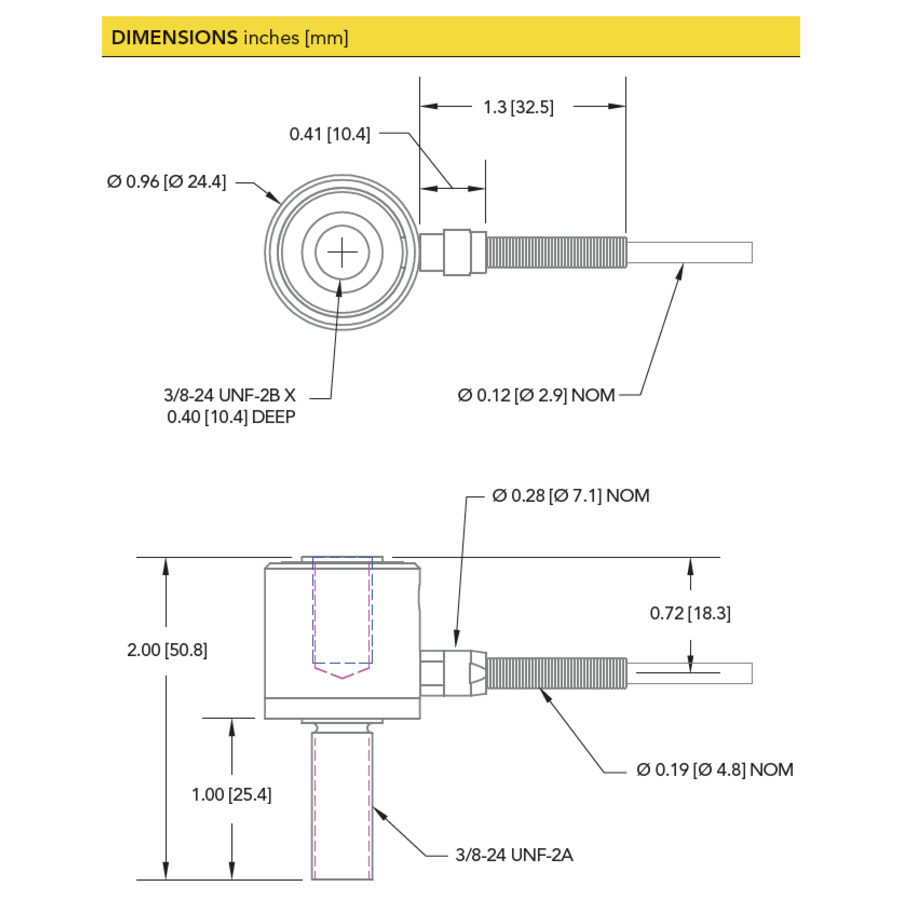 LCB200 In Line Rod End Load Cell-5