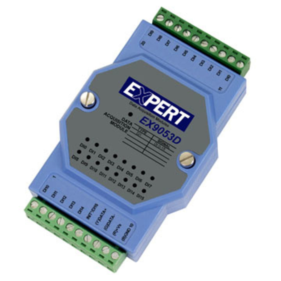 EX9053D - RS485 16 digital input module with status LED-2