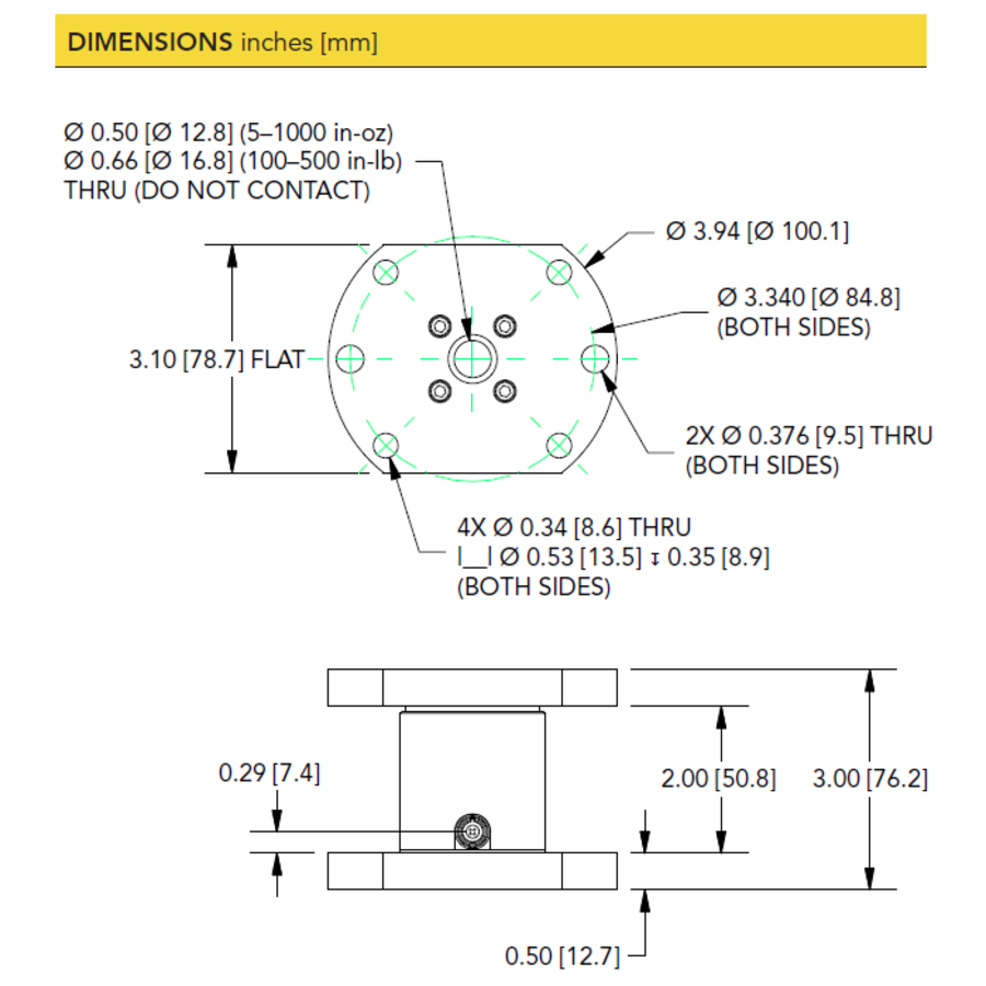 TFF425 Flange-to-Flange Reaction Torque Sensor-4