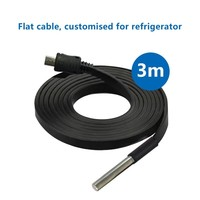 thumb-Temperature Probe DS18B20-3 meter Flat cable-1
