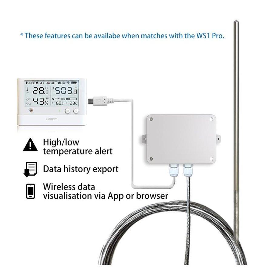 Pt100 Temperature probe 3 meter for GS1 - Audio plug-4
