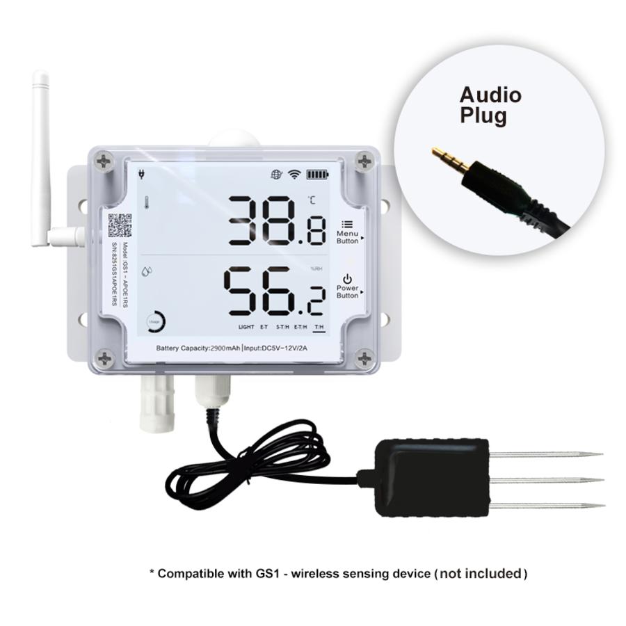 Soil Temperature and Moisture probe 3 m - Audio for GS1-2