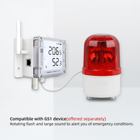 thumb-Flash-Light + Audible Alarm - Red color-2