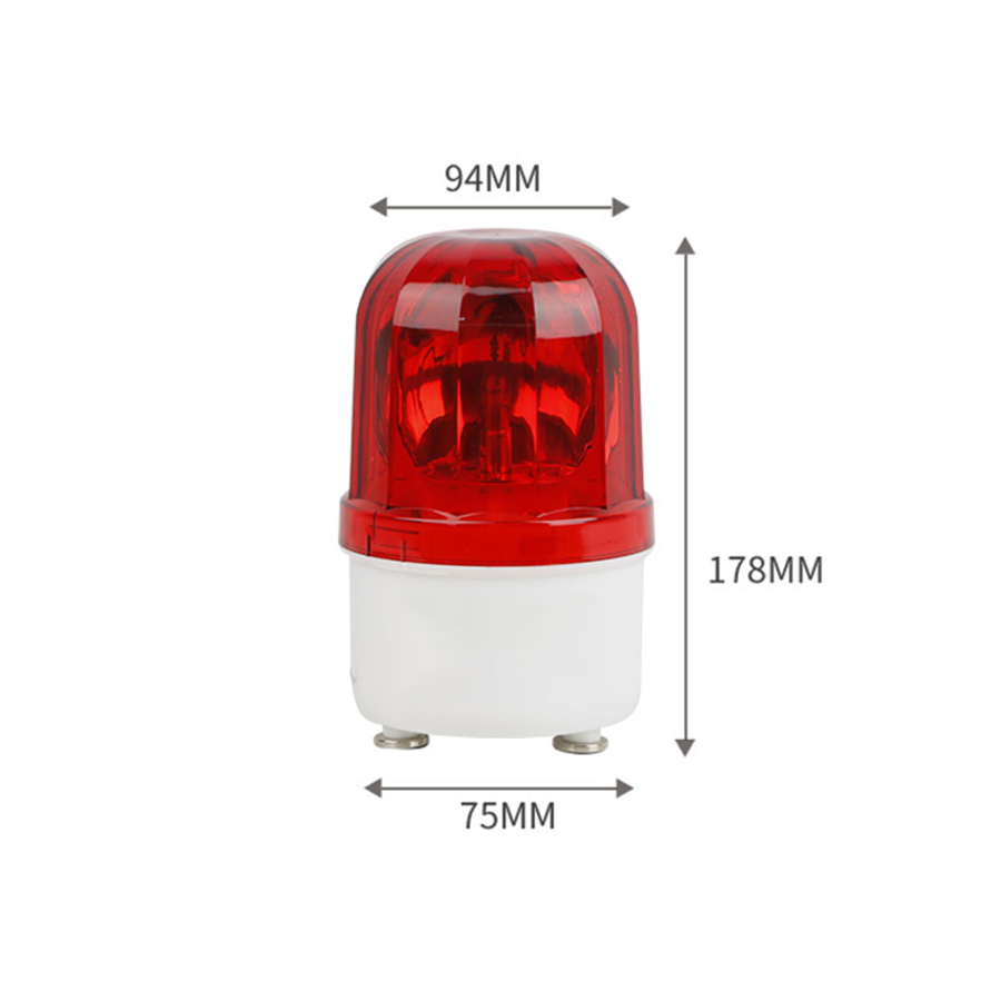 Flash-Light + Audible Alarm - Red color-3