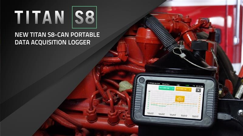Titan S8-CAN datalogger  for SAE J1939 compliant Tier 1 through Tier 4 Final Diesel Engines
