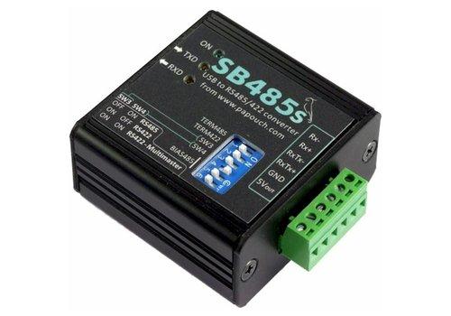 Papouch SB485S - USB naar RS485 / RS422 geïsoleerde converter met terminal