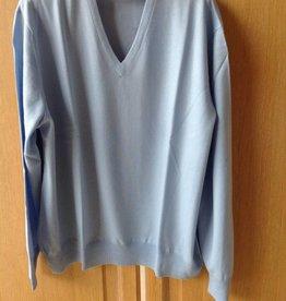 Piet Nollet Pullover Extra Fine Merino Wool / Light blue