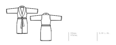 Abyss Badjas KI HO 100 % Egyptisch katoen - Giza 70 400 g /m2