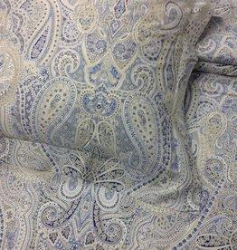Piet Nollet Meterstof Kami , voor bedlinnen ,gordijnlinnen,tafellinnen of sierlinnen , 100 % katoen ( Cashmere design ) tekening ( Egyptische katoen 300 Thread counts )