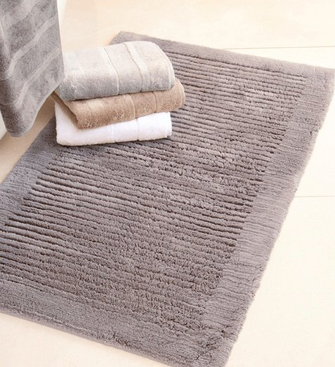 Cawö  Bath carpet is made of 100% combed cotton.