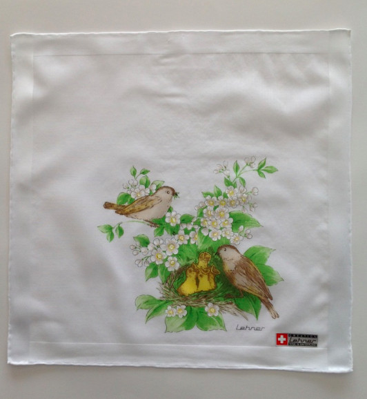 Lehner Zakdoeken Dames : 31/31 cm ( Handgerold )