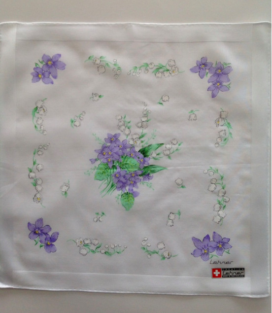 Lehner Zakdoeken Dames : 31/31 cm ( Handgerold