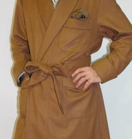 Piet Nollet Dressing Gown ,  classic for MEN in 100% CASHMERE with PASSEPOIL