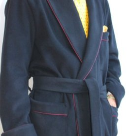 Piet Nollet Classic indoor  JACKET for MEN in WOOL / CASHMERE, WITH PIPING and  LINING BEMBERG on the  SHOULDERS.