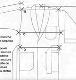 Piet Nollet KAMERJAS in 100 % zijde en gevoerd  ( binnenkant )met 100 % zijde effen