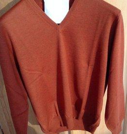 Piet Nollet Pullover Extra fine Merino wool / BROWN / ROEI