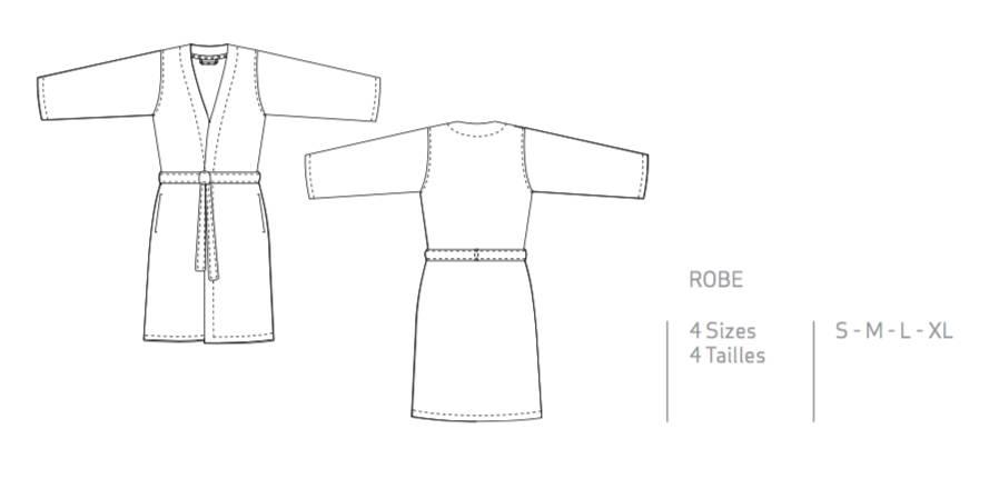 Abyss Badjas SPA ROBE ,  ( 350gr/m2 )  , GIZA 70- 100% Egyptisch katoen